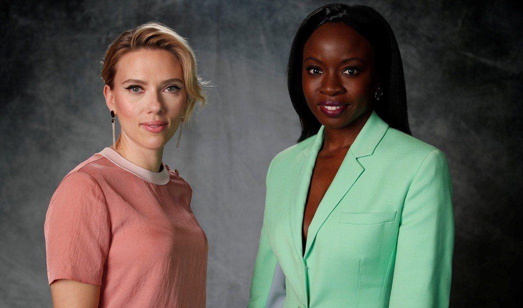 思嘉莉約翰森(左)與戴娜葛瑞拉都是「復仇者聯盟:終局之戰」的女英雄。圖/路透資料...