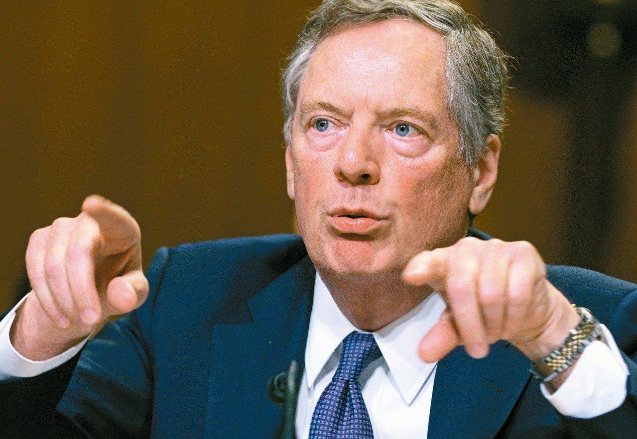 美國貿易代表賴海哲。 (路透)