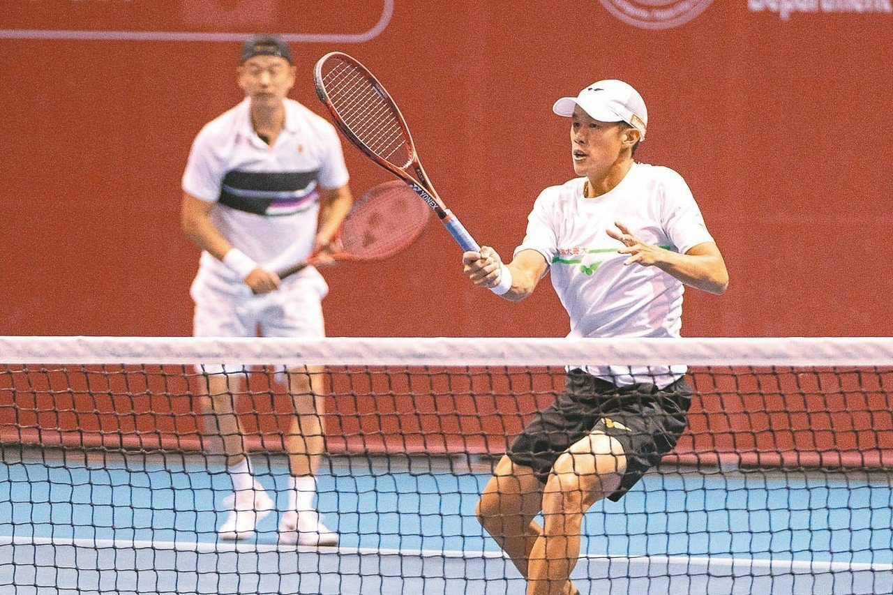 華國三太子國際男網賽,莊吉生(右)/王宇佐在雙打八強落敗。 圖/海碩行銷提供