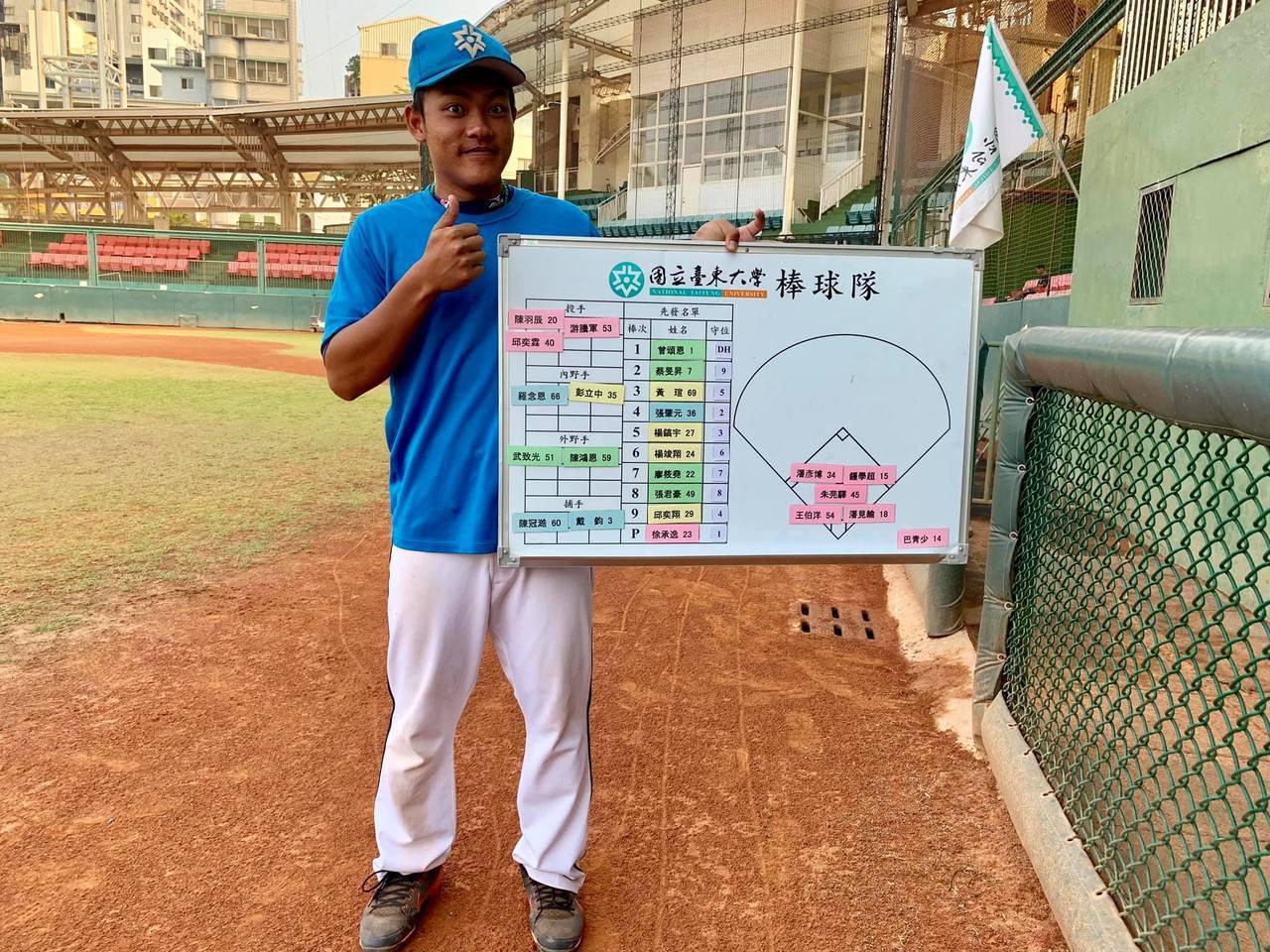 擷圖自台東大學棒球隊粉絲團