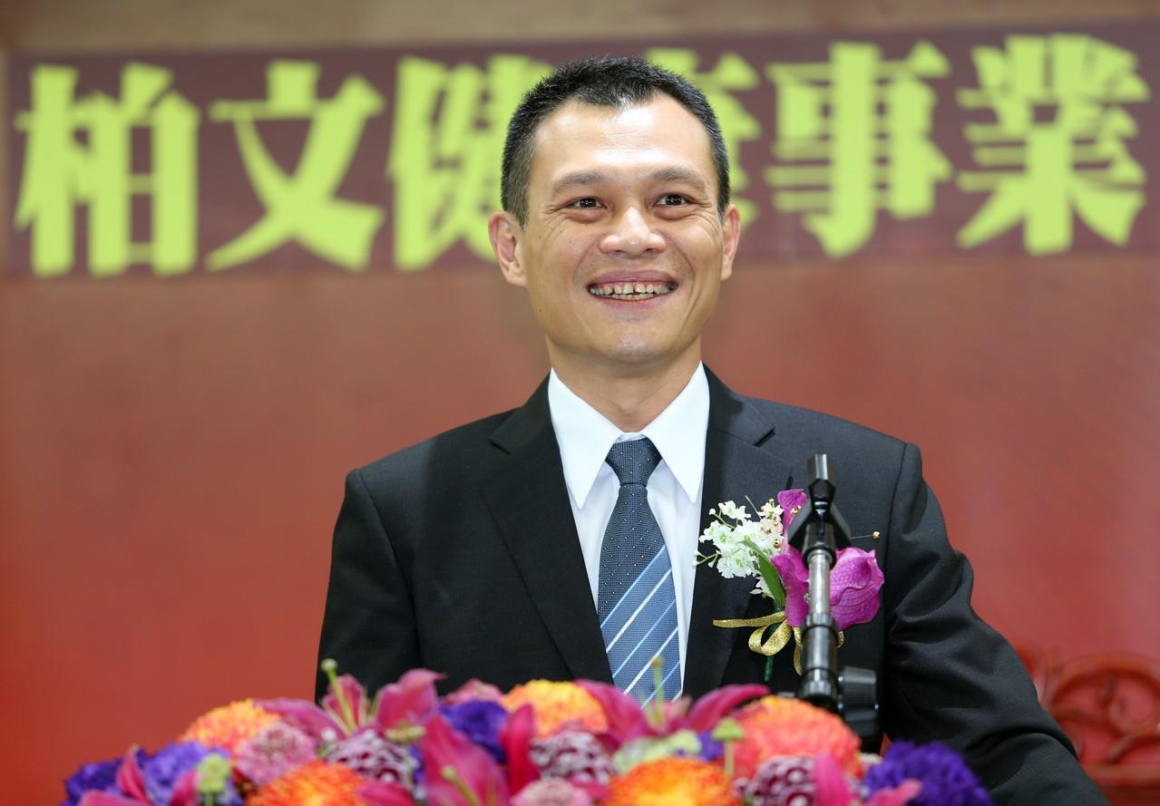 圖為柏文董事長陳尚義。 記者杜建重/攝影