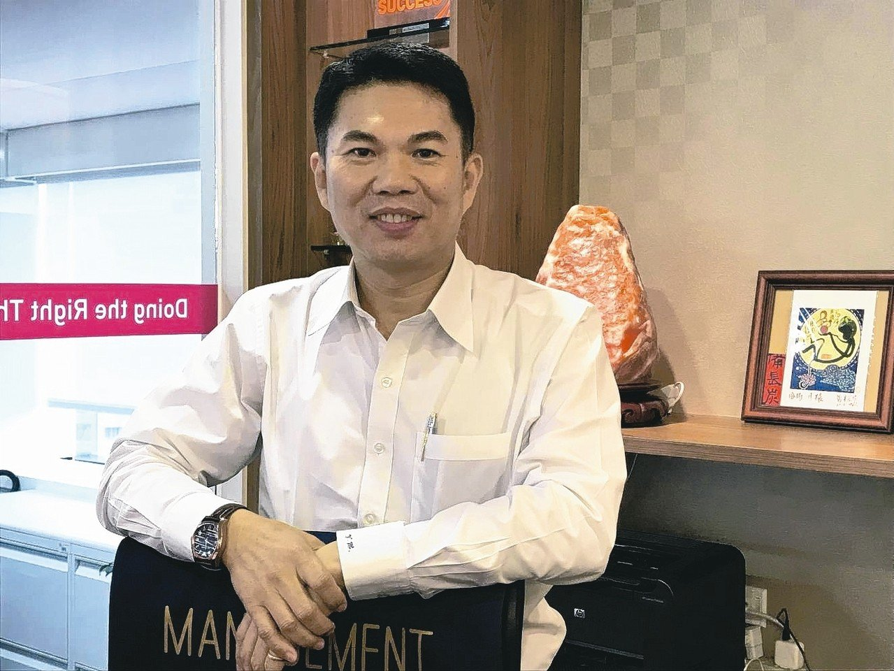 AIA友邦人壽總經理侯文成 記者陳怡慈/攝影