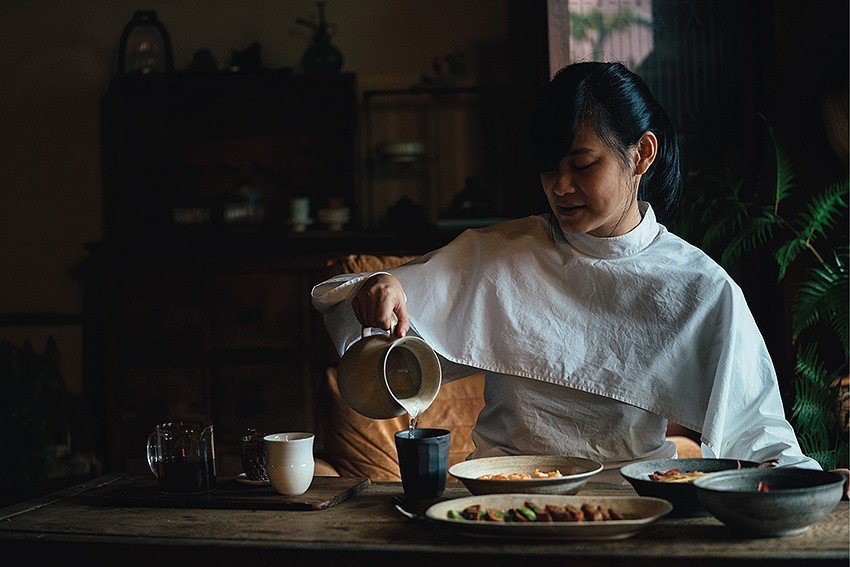臺灣知名飲食作家的盧怡安。 陶博館/提供