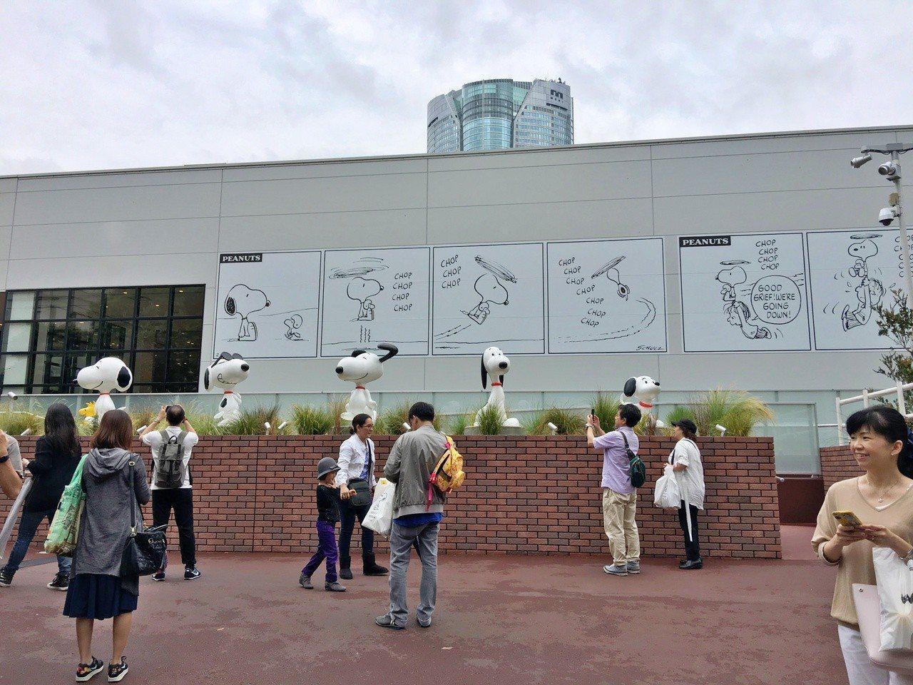 史努比博物館受到不少遊客喜愛。記者魏妤庭/攝影