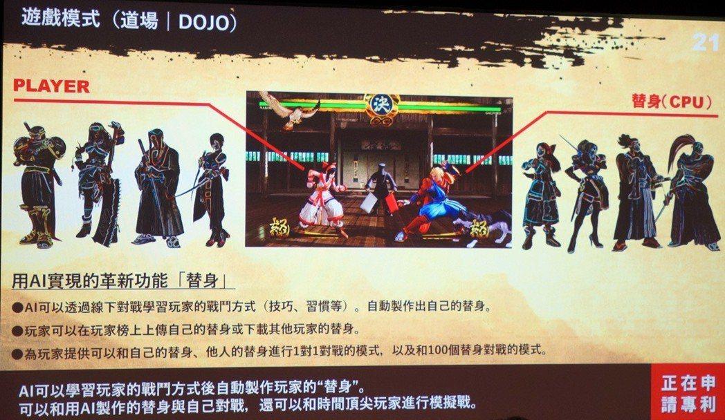 遊戲中的道場模式,參入了SNK獨有的AI系統替身,它會透過網路學習玩家的戰鬥方式...