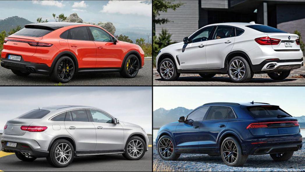 德系豪華Coupe SUV中,Porsche Cayenne、BMW X6、Me...
