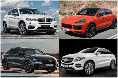 德系豪華Coupe SUV之爭! Porsche Cayenne、BMW X6、Mercedes-Benz GLE Coupe、Audi Q8你選誰?