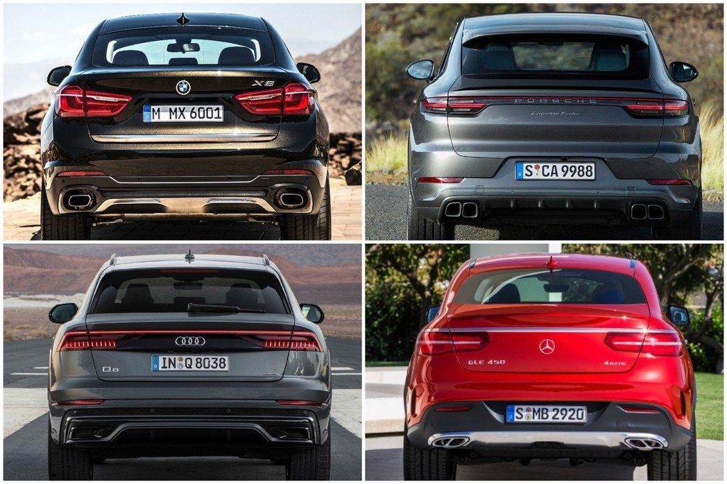 出自於同集團的Audi Q8與Porsche Cayenne Coupe,兩者雖...