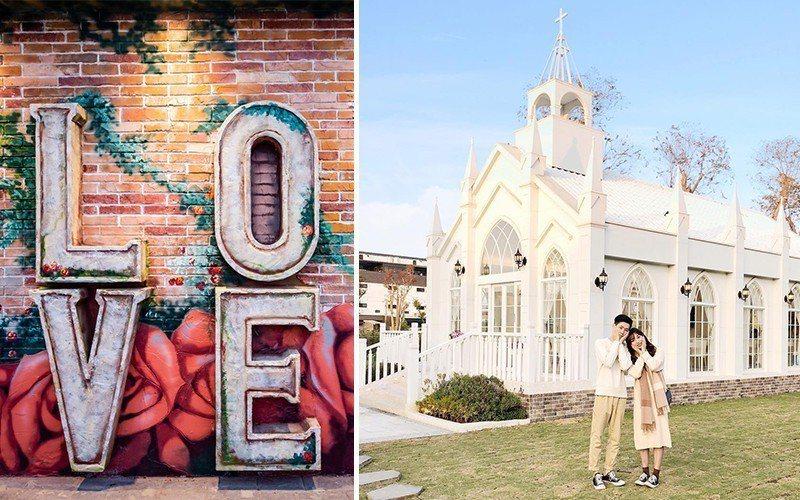 圖/彰化員林「琉璃仙境」休閒農場,是個兼顧婚攝、親子旅遊的假日景點。擷取自粉絲團(左)、網友yuching330(右)授權
