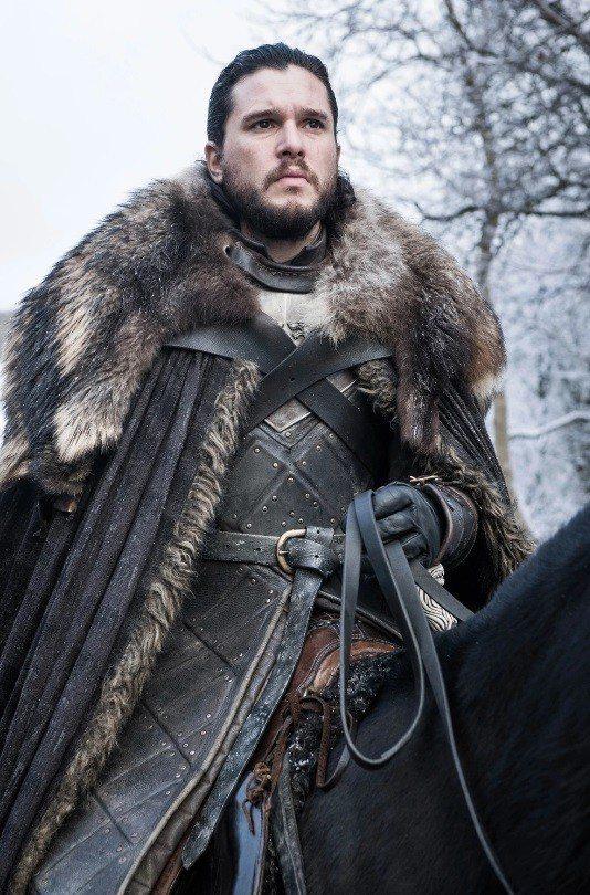 基特哈林頓扮演的瓊恩雪諾是「冰與火之歌:權力遊戲」的主角。圖/摘自HBO