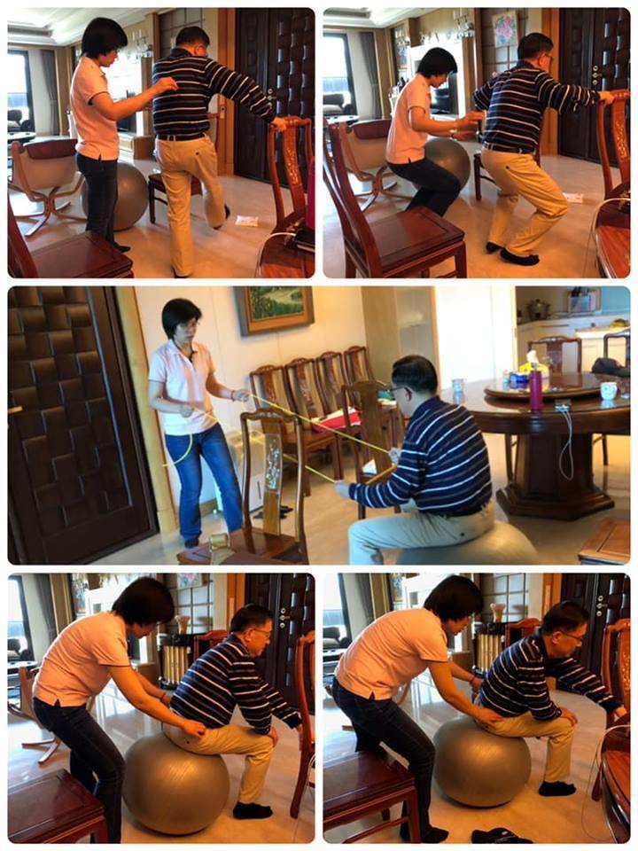 前總統陳水扁臉書貼出「居家治療照」,引發議論。圖/取自陳水扁臉書