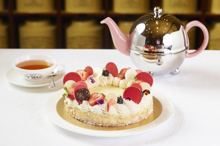 母親節限定款茶香乳酪蛋糕1,100元。圖/TWG Tea提供