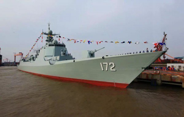 中國神盾級052D型驅逐艦。取自新華網