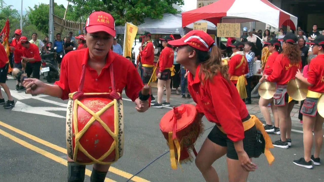 傳統大鼓陣在大武壠文化節一定登場,把活動氣氛推至高潮。記者王昭月/攝影
