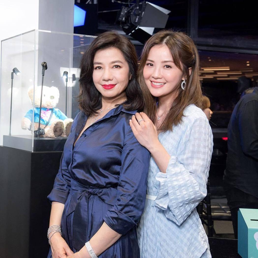 鍾楚紅與蔡卓妍合照,被讚有如凍齡姊妹花。圖/摘自Instagram