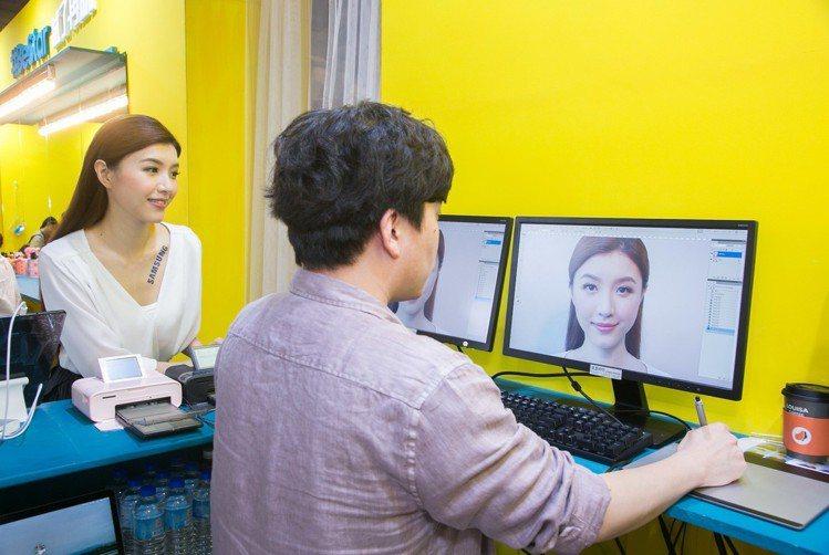 韓國攝影團隊現場快手修圖神乎其技。圖/三星提供