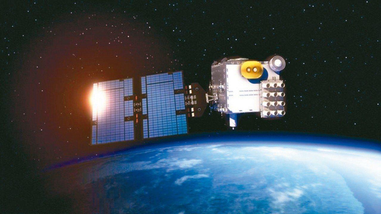 圖為福衛七號太空模擬圖。 圖/取自國家太空中心官網
