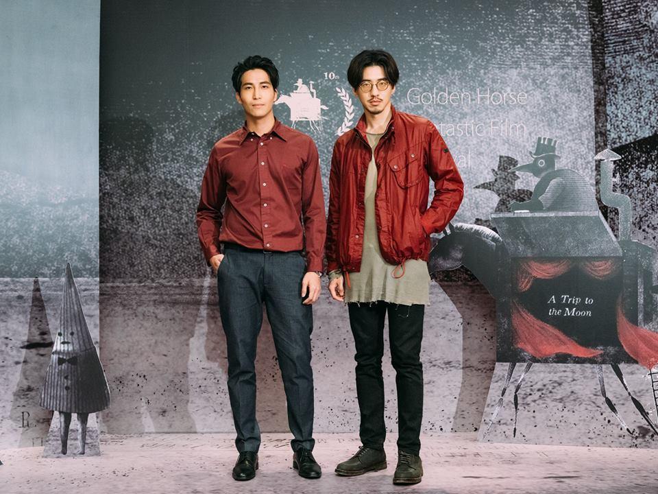 吳翔震(左)與傅孟柏在「緝魔」都有大尺度演出。圖/摘自金馬影展臉書