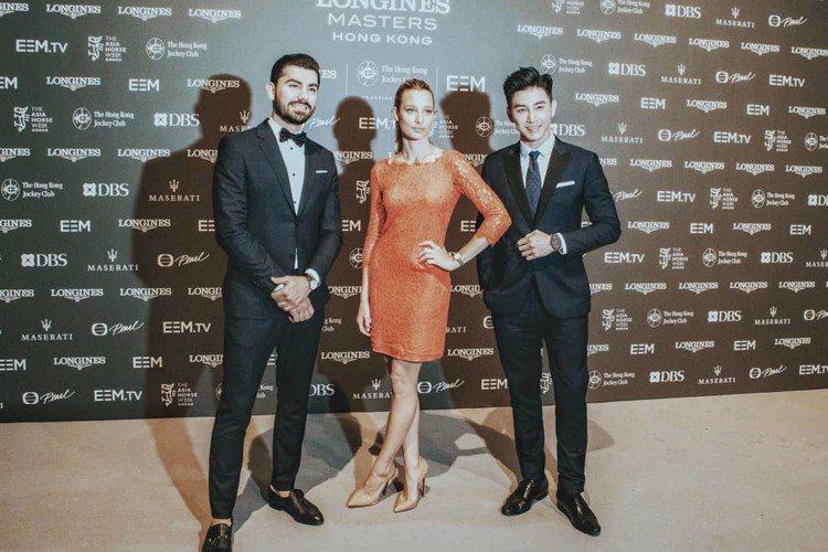 張立昂(右)身穿Brooks Brothers的晚宴西裝,出席腕表品牌活動。圖/...