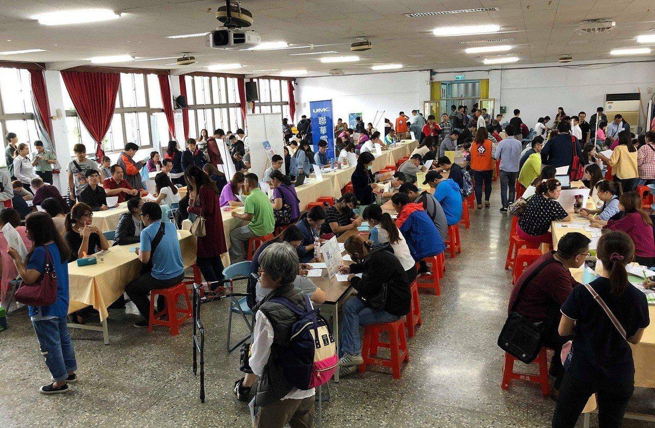 新竹就業中心將於15日在竹市東區區公所3樓大禮堂辦理現場徵才活動,釋出1,064...