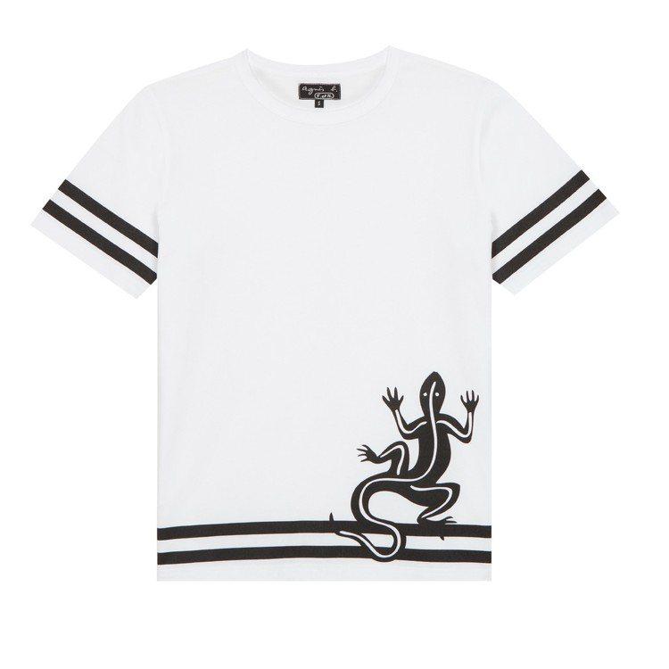 蜥蜴圖騰T恤,4,280元。圖/agnès b.提供