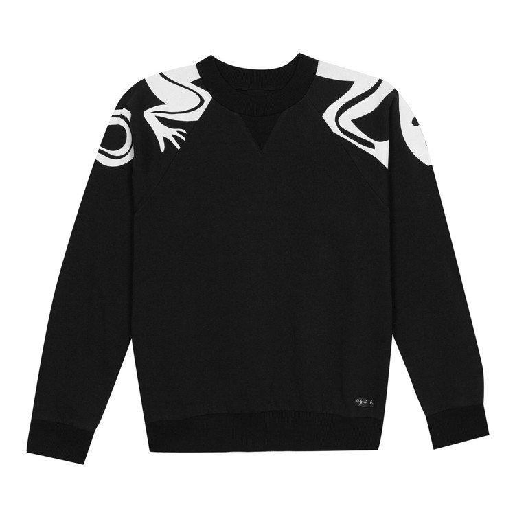 蜥蜴圖騰長袖T恤,6,980元。圖/agnès b.提供