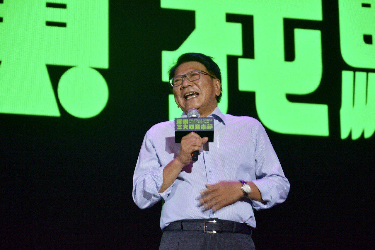 屏東縣長潘孟安表示,期許屏東三大日音樂節成為台灣春天最具代表的音樂盛典。圖/屏東...
