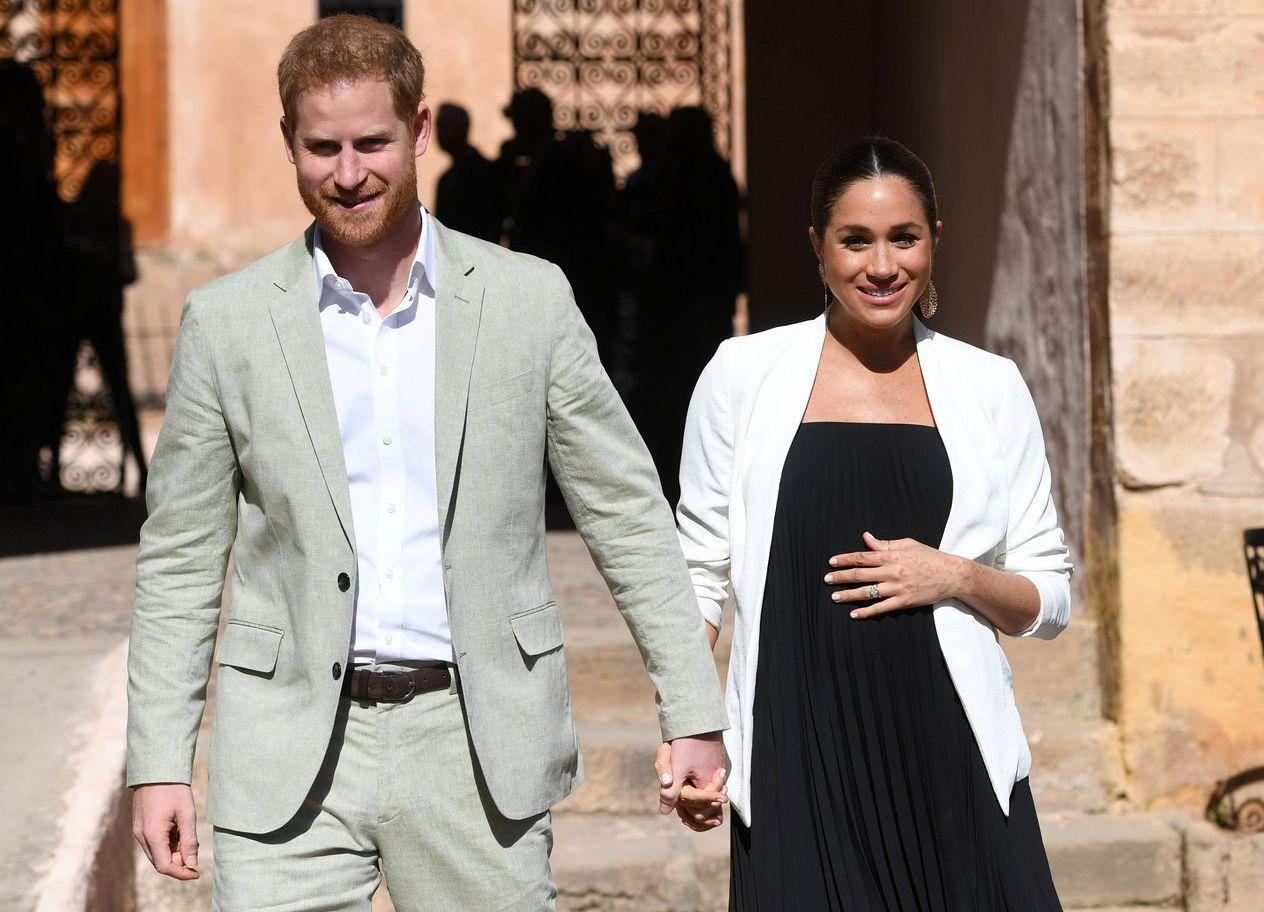 哈利王子和妻子梅根,他們的孩子將是英國王室第七順位繼承人。 (路透)