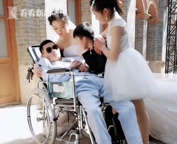 新娘與植物人新郎拍婚紗照:欠我的婚禮必須還