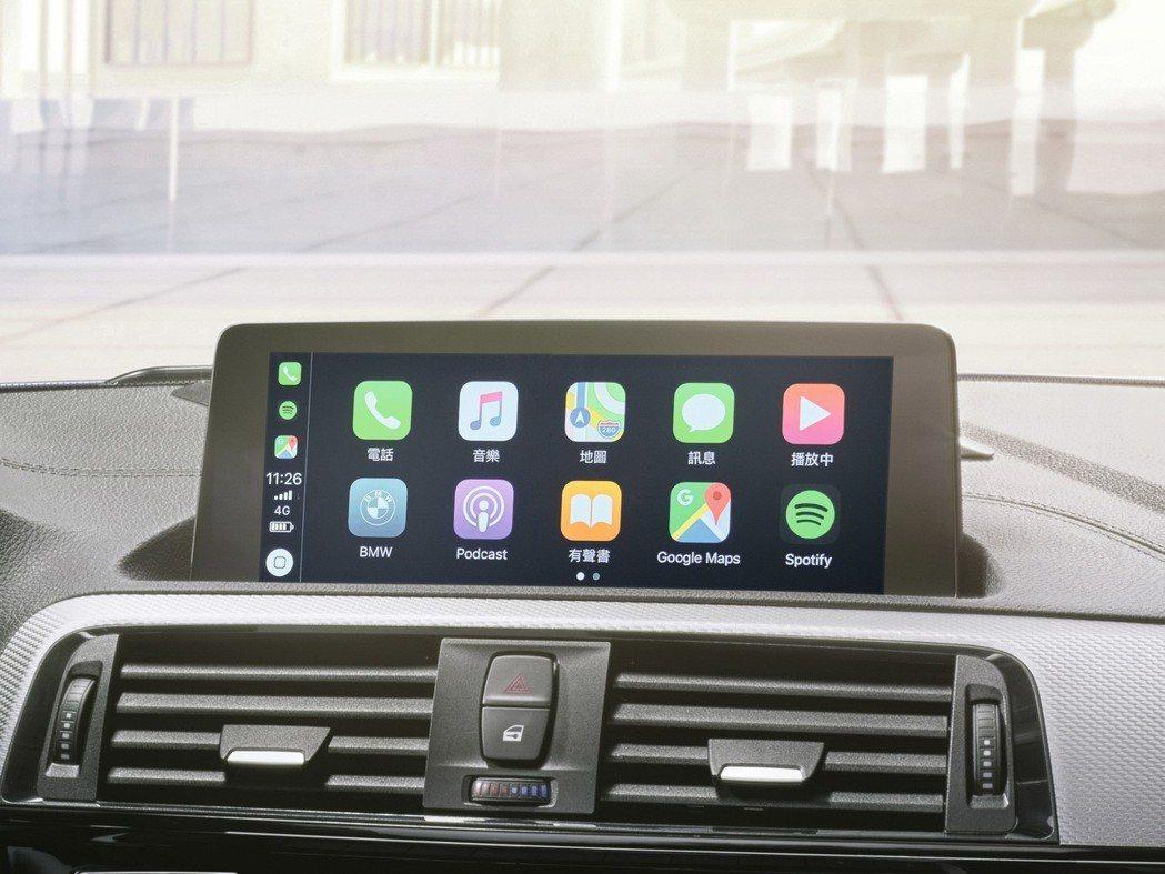 搭載BMW獨家首創無線Apple CarPlay車載系統。 圖/汎德提供