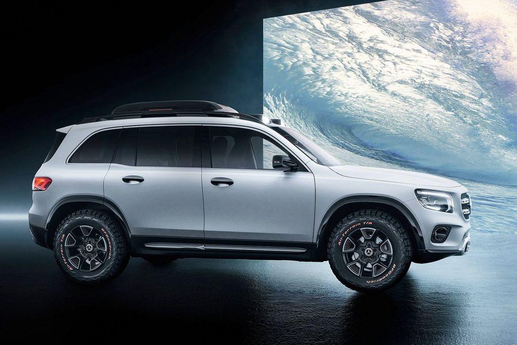賓士GLB Concept概念車具備長4,634mm、寬1,890mm、高1,9...