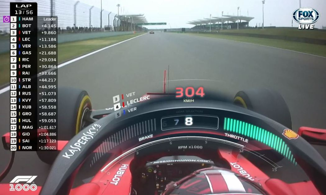 Leclerc還表示Vettel限制了我的速度。 截自FOX+