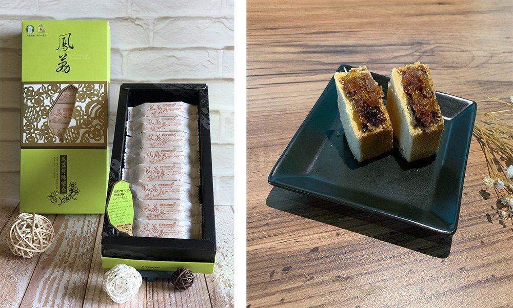(左) 鳳荔酥是高雄近期最火熱的伴手禮。(照片提供/大樹區公所) (右) 鳳荔酥...