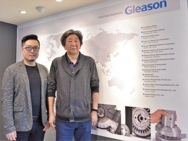 圖4 : 直屬GLEASON亞洲分公司在台灣的窗口,隆答公司董事長佐?木伸夫(右...