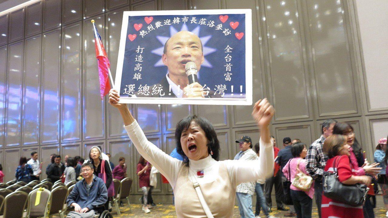 洛杉磯華僑相當熱情。記者王慧瑛/攝影