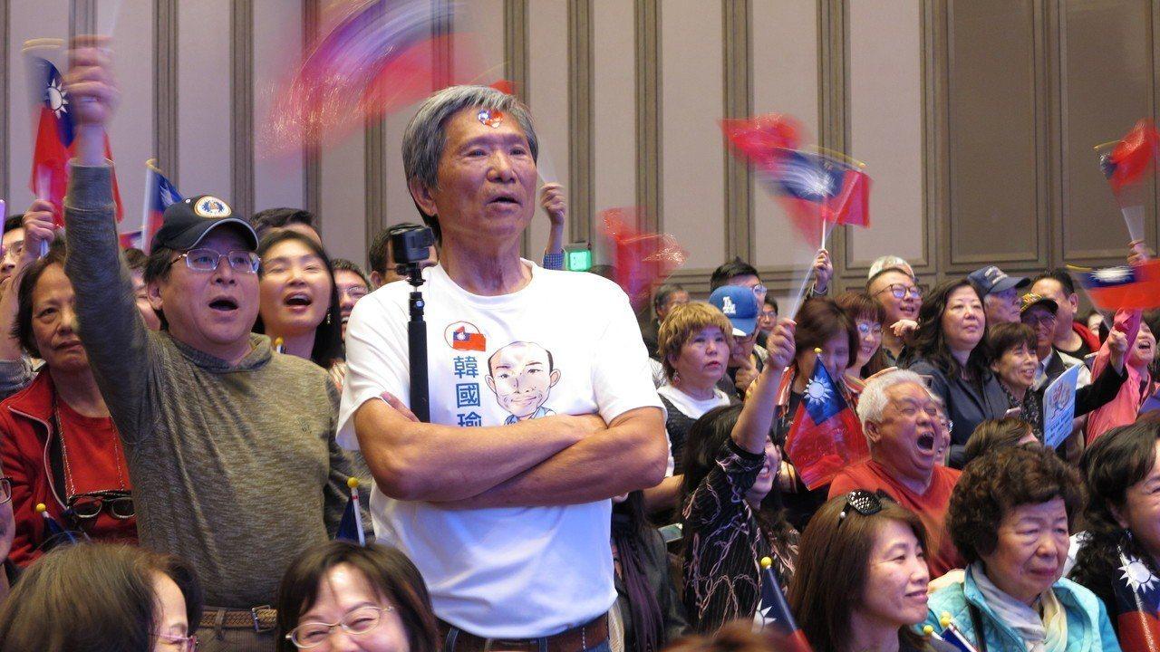 洛杉磯華僑相當熱情,現場促選總統聲音不絕於耳。記者王慧瑛/攝影
