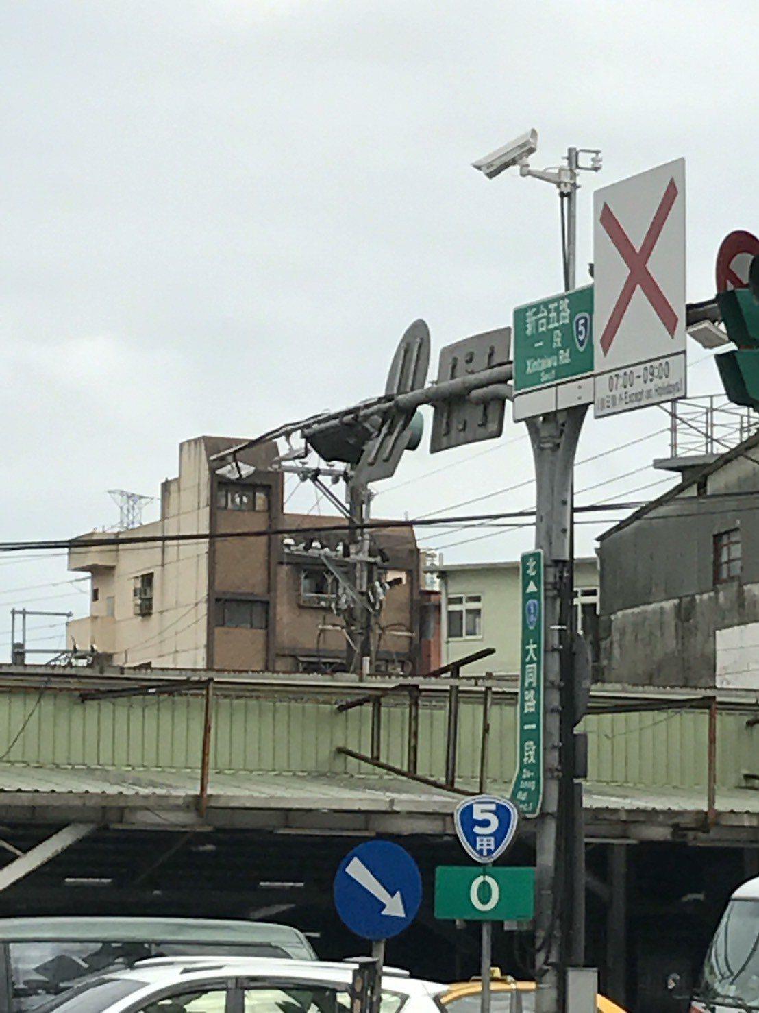 汐止大同路增設etag 偵測器、智慧監視器。圖/新北市交通局提供