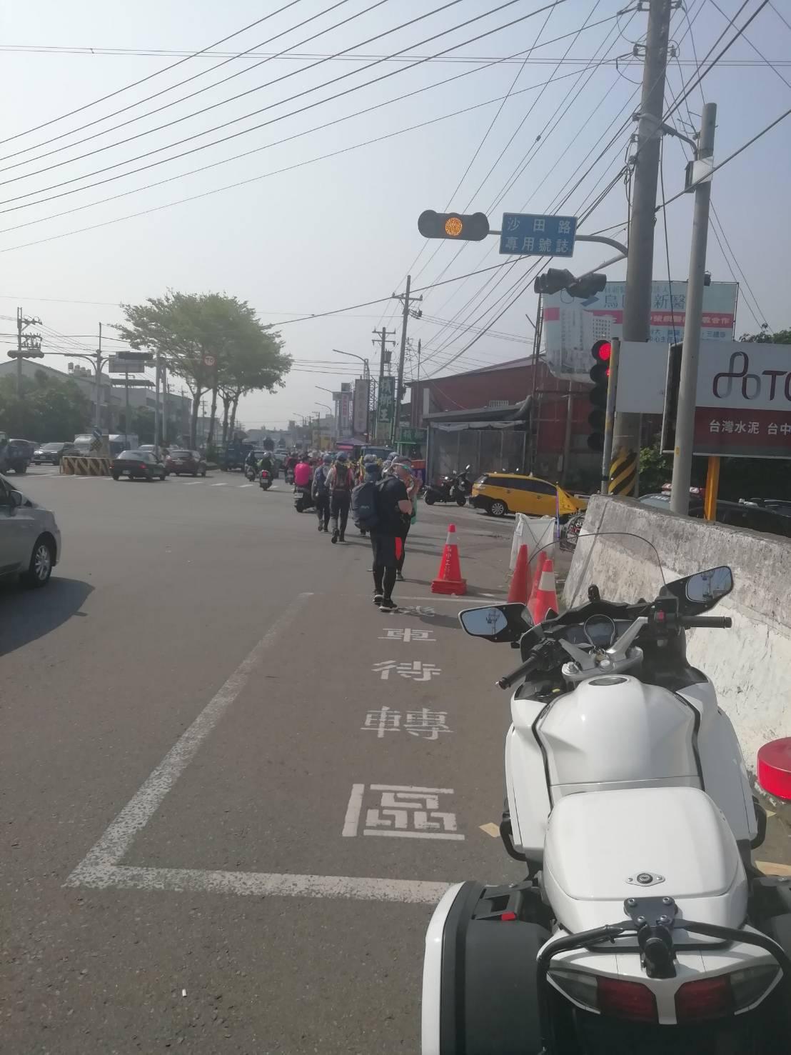 因應明天大甲媽回鑾會有相關車潮、人潮,台中市警局進行交通管制。圖/台中市警局提供