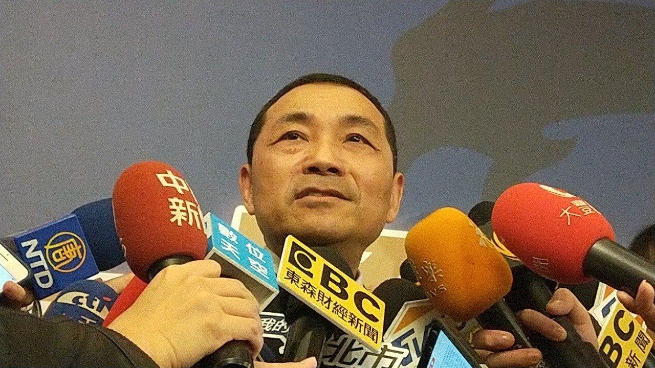 新北市長侯友宜表示要和企業合作「從1到1萬」。記者施鴻基/攝影