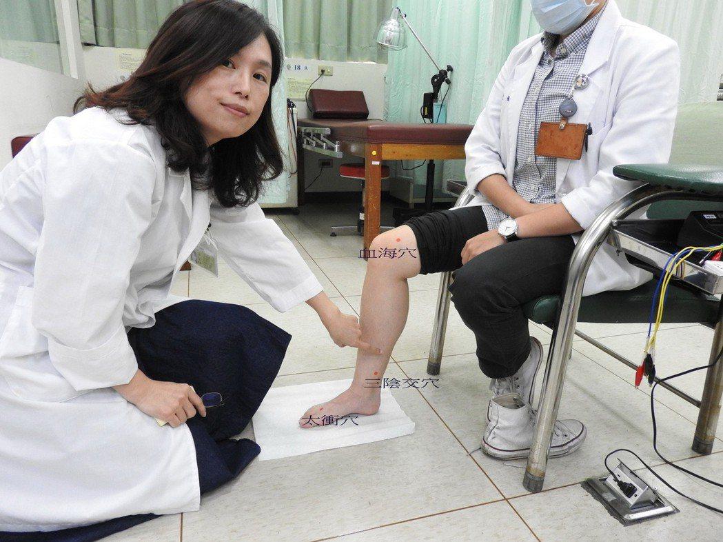 配合針灸穴位協助患者調理體質。圖/台南市立醫院提供