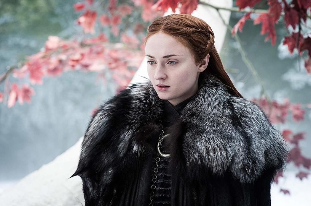 蘇菲特納在劇中的角色珊莎史塔克。圖/摘自HBO