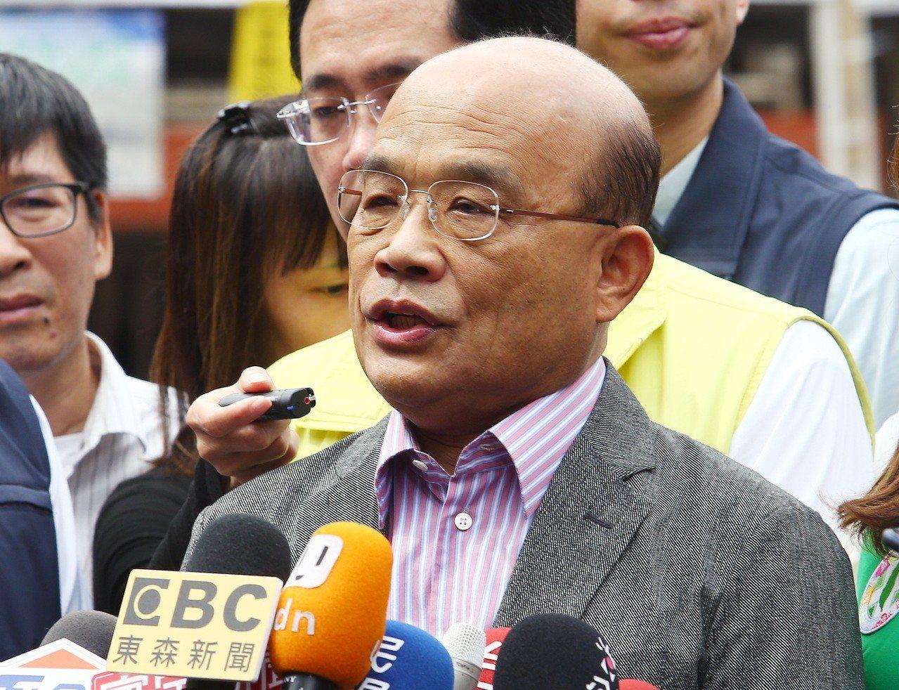 行政院長蘇貞昌。本報資料照/記者杜建重攝影