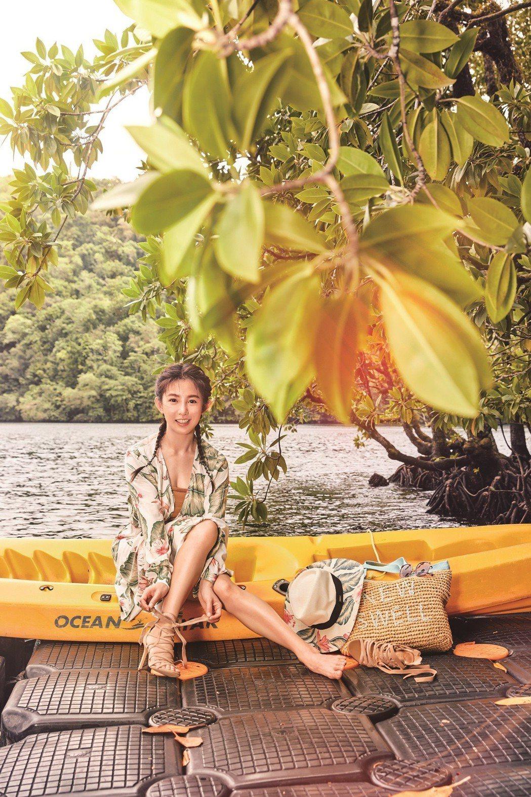 郭書瑤到帛琉工作兼度假。圖/潮流雜誌提供