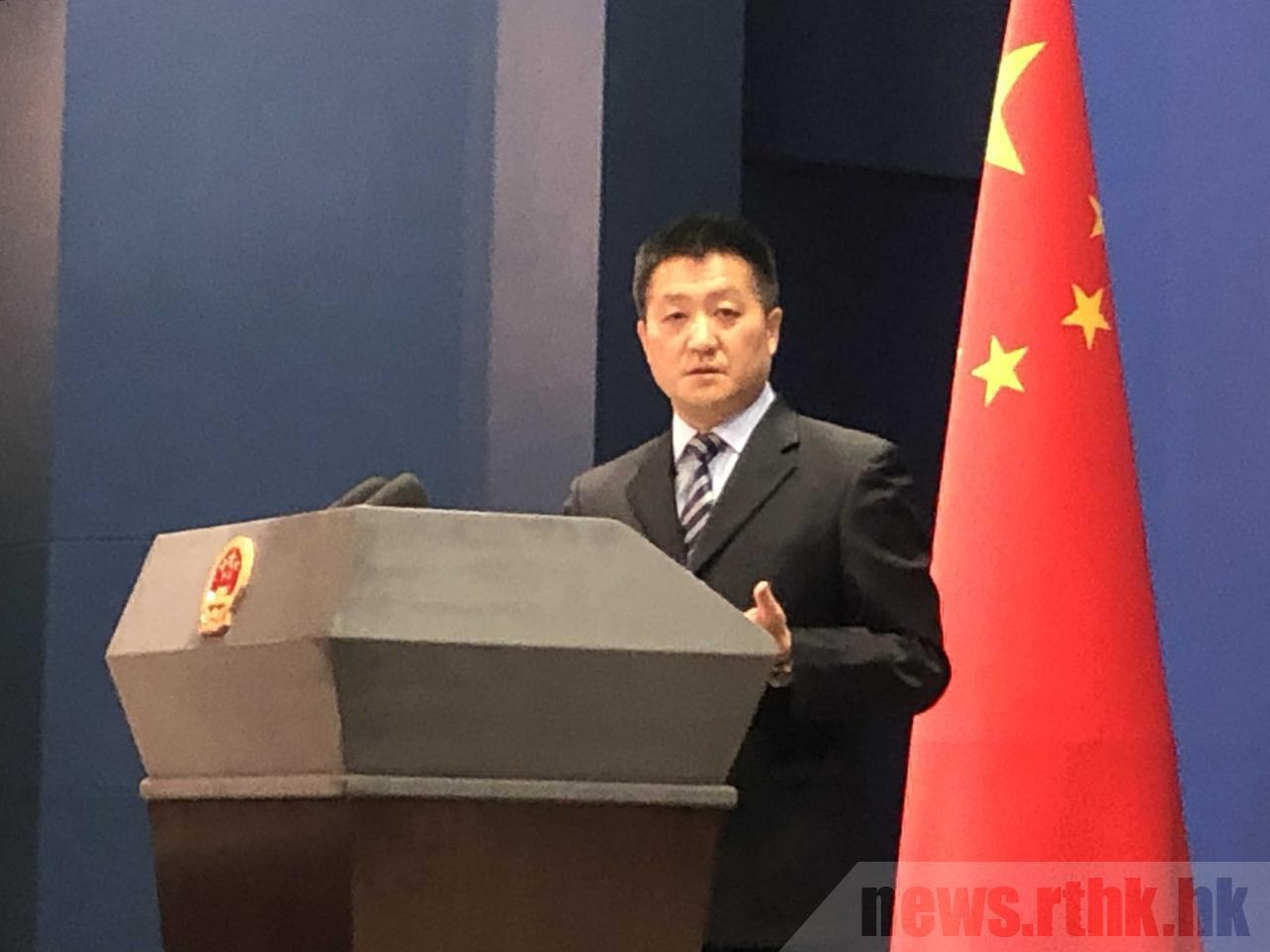 中共外交部發言人陸慷。香港電台