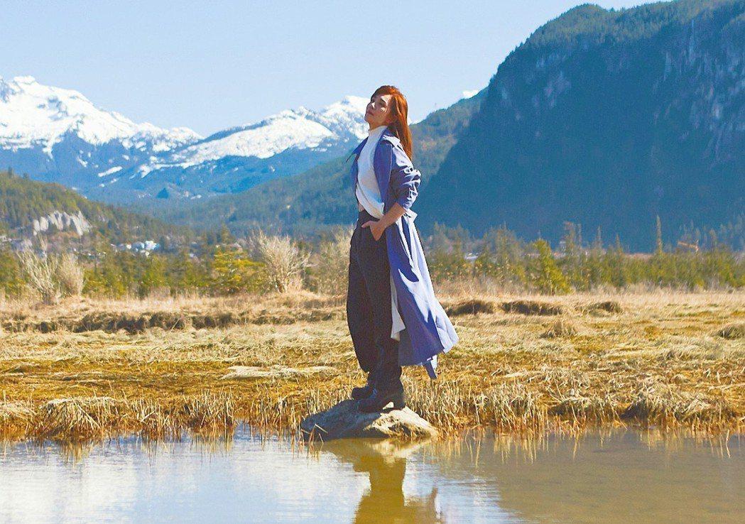 梁靜茹遠赴加拿大溫哥華拍攝「微光」MV。圖/環球提供
