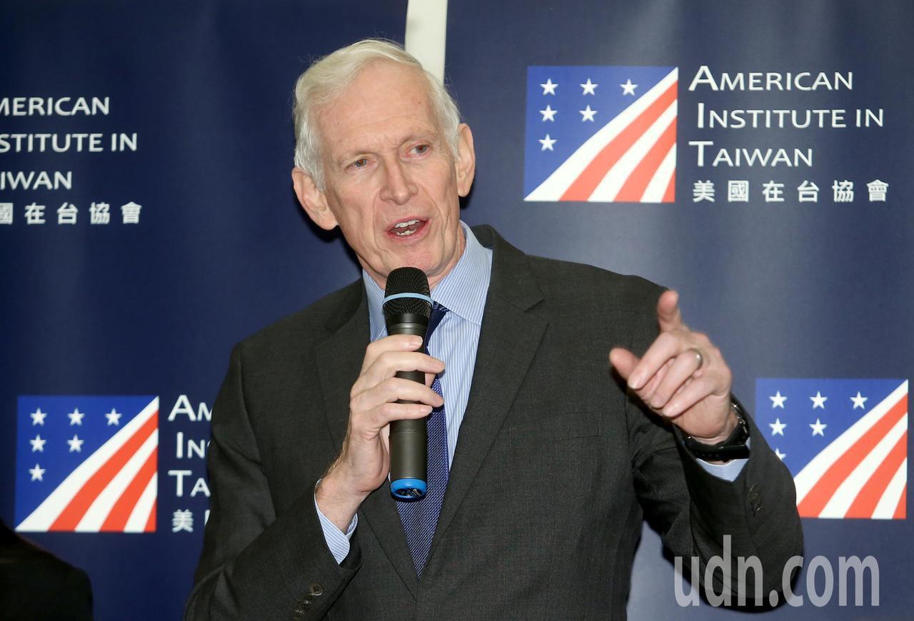美國在台協會主席莫健出席《台灣關係法》40年友誼慶祝酒會。記者余承翰/攝影
