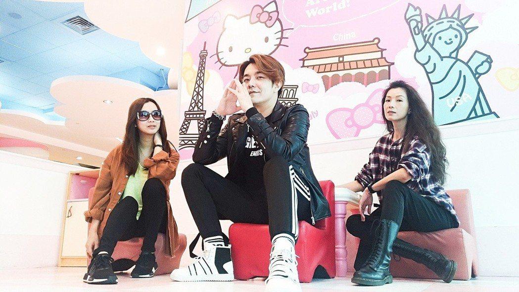 葉全真(右起)帶著主播阿鴻、小延到韓國做直播掃貨。圖/翰成數位直播提供