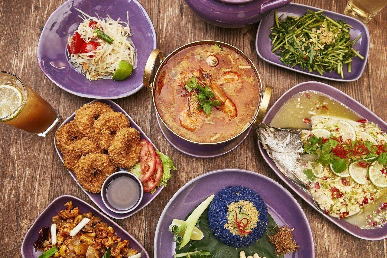 菜單提供豐富的道地泰式料理。圖/NARA Thai Cuisine提供