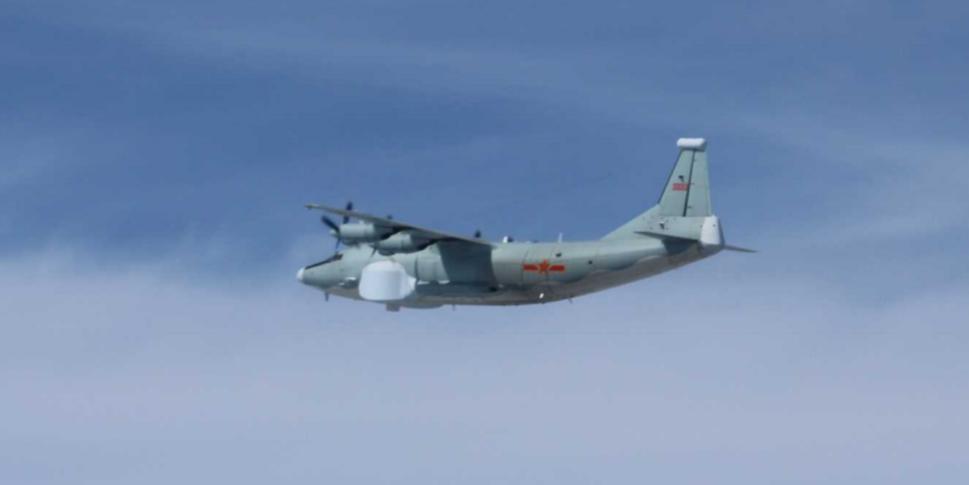 運八「高新四號」電戰機。圖/日本防衛省統合幕僚監部