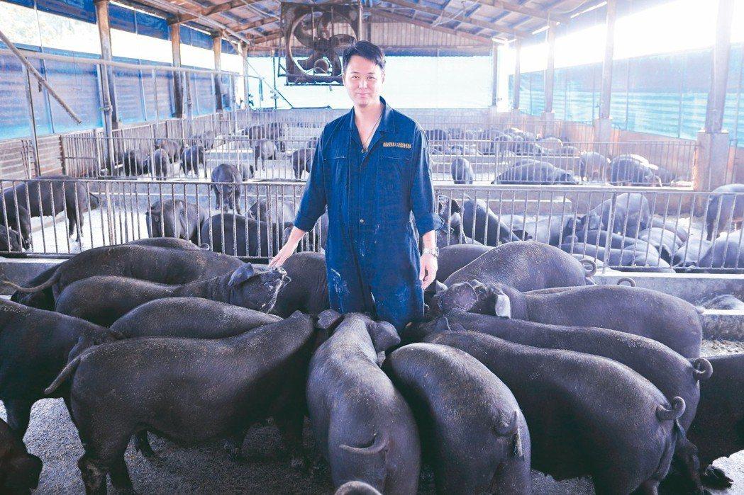 李榮春進軍養豬業後仍然不改科技人本色,以過去累積的科技、管理知識進行育種、飼養、...